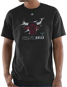 Chicago Bulls Mens Black Visionary of Principles Short Sleeve T Shirt