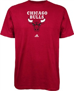 Chicago Bulls Red Primary Logo T Shirt by Adidas