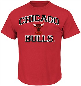 Chicago Bulls Red Vintage Heart & Soul T Shirt by Majestic