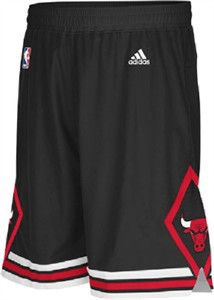 17673c466aadc8 Chicago Bulls Youth Black Alternate Replica Basketball Shorts By Adidas