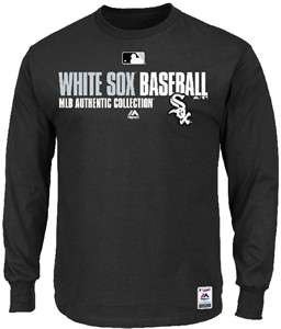 Chicago White Sox AC Black Team Favorite Long Sleeve Team Issued Tee Shirt by Majestic