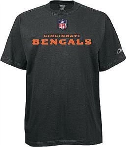 Cincinnati Bengals  Adult Official Sidelines Tee Shirt By Reebok