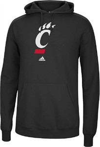 Cincinnati Bearcats Mens Black Versa Logo Hooded Sweatshirt by Adidas