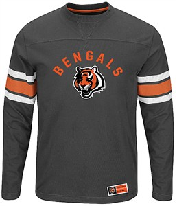 Cincinnati Bengals Adult Black Power Hit 2 Long Sleeve T Shirt