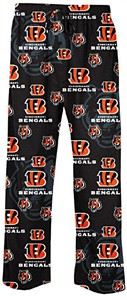 Cincinnati Bengals Mens Black Team Logo Sleep Pants