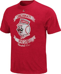 Cincinnati Reds Cooperstown Legendary Victory T Shirt by Majestic