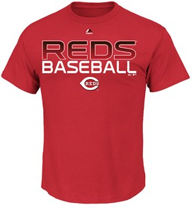 Cincinnati Reds Game Winning Run Short Sleeve Tee Shirt by Majestic