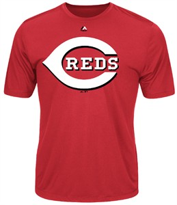 Cincinnati Reds Majestic Synthetic Official Logo Short Sleeve Tee Shirt