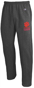 Clemson Tigers Adult Charcoal Champion Open Bottom Powerblend Sweatpants