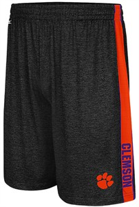 Clemson Tigers Black Mens Wicket Synthetic College Shorts