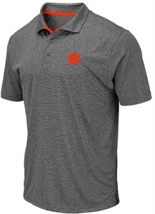 Clemson Tigers Charcoal Newcastle Polyester Polo Shirt