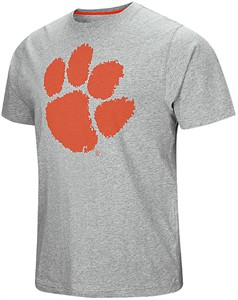 Clemson Tigers Grey And Away It Goes Short Sleeve T Shirt