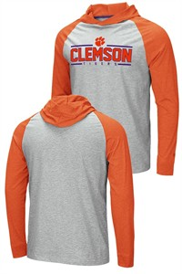 Clemson Tigers Grey Slopestyle Long Sleeve Hoodie T Shirt
