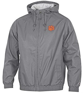 Clemson Tigers Grey Victory Synthetic FZ Hooded Jacket on Sale