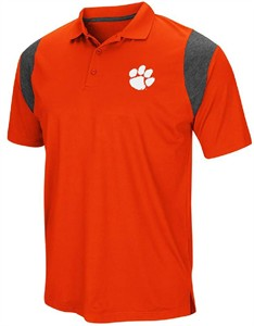 Clemson Tigers Mens Orange Friend Colosseum Polo Shirt