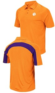 Clemson Tigers Mens Wellington Synthetic Polo Shirt