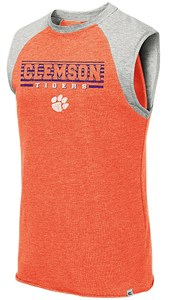 Clemson Tigers Orange Quioto Sleeveless Terry Shirt