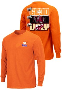 Clemson Tigers The Good Bad Ugly Orange Long Sleeve T Shirt