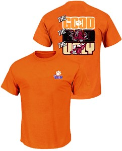 Clemson Tigers The Good Bad Ugly Orange Short Sleeve T Shirt