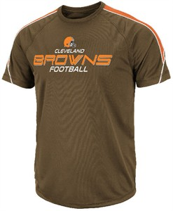Cleveland Browns Fanfare V Performance Brown Short Sleeve T Shirt by VF