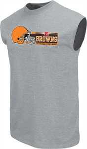 Cleveland Browns Men's Grey Critical Victory VII Sleeveless Shirt by VF