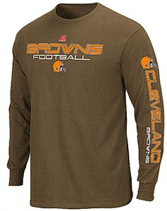 Cleveland Browns Receiver 3 Long Sleeve T Shirt by Majestic