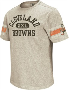 super popular 39d21 60039 Cleveland Browns Vintage Applique Shirt by Reebok-Grey | NFL ...