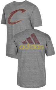 Cleveland Cavaliers Adidas 2 Sided Favorite ID Blended Short Sleeve Tee Shirt