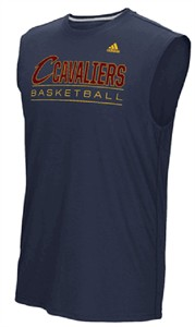 Cleveland Cavaliers Adidas Navy Ball Out Ultimate Synthetic Sleeveless Shirt