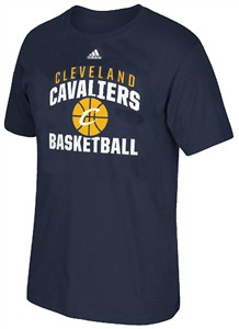 Cleveland Cavaliers Adidas Navy Rep Big T Shirt