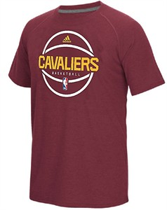 Cleveland Cavaliers Adidas  Wine Pre-Game Climacool Synthetic Short Sleeve T Shirt
