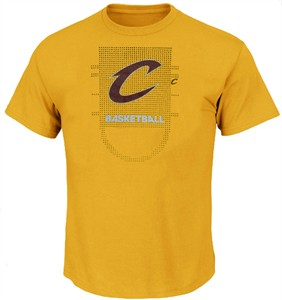 Cleveland Cavaliers Gold Adidas Key To Victory Mens Short Sleeve T Shirt