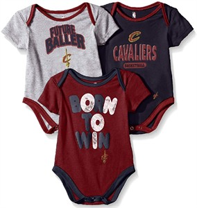 Cleveland Cavaliers Infant & Toddler  Little Fan 3 Pack Creeper Set