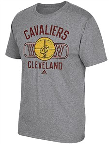 Cleveland Cavaliers Mens Slimmer Fit Grey Athletic Dept Blended T Shirt