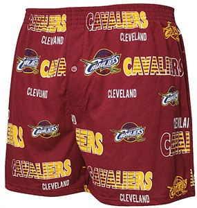 Cleveland Cavaliers Mens Oversized Wine Sweep Boxer Shorts