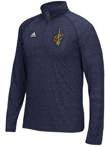 Cleveland Cavaliers Navy Adidas 1/4 Zip Baseline  Synthetic Shirt