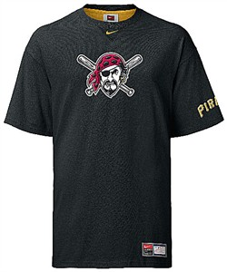 Pittsburgh Pirates MLB Tackle Twill Embroidered Short Sleeve Tee Shirt By Nike Team Sports