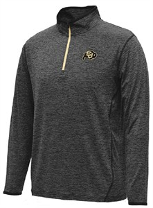 Colorado Buffaloes Charcoal Heather Action Pass 1/4 Pullover Synthetic Windshirt