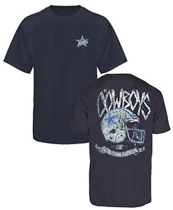 Dallas Cowboys Blue 2 Sided Washed Cotton Thrasher T Shirton Sale