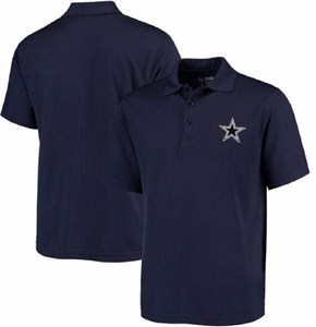 Dallas Cowboys Blue Logo Premier Synthetic Polo Shirt