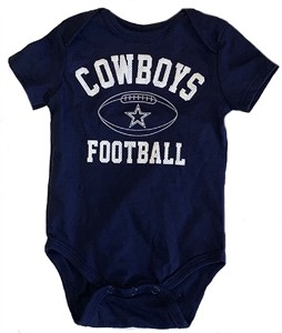 Dallas Cowboys Blue Natural Talent Newborn & Infant Silhouette Bodysuit