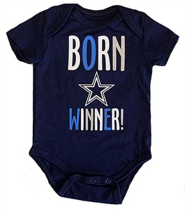 Dallas Cowboys Blue Rascal Romper Newborn & Infant Silhouette Bodysuit