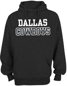 Dallas Cowboys Charcoal Practice Screened Hoodie Sweatshirt