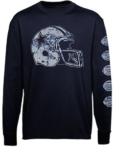 Dallas Cowboys Helmet Championships Long Sleeve T Shirt on Sale