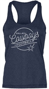 Dallas Cowboys Ladies Blue Alice Racerback Tank Top on Sale