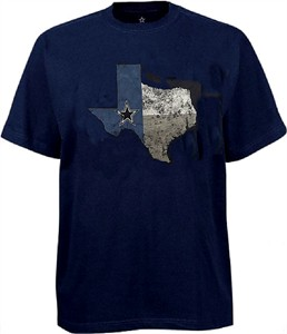Dallas Cowboys Mens Blue Color State Cotton T Shirt on Sale