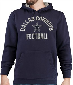 Dallas Cowboys Mens Blue Dudley Embroidered Hooded Sweatshirt