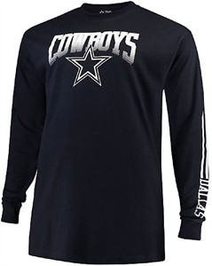 Dallas Cowboys Mens Blue Mack Long Sleeve T Shirt on Sale