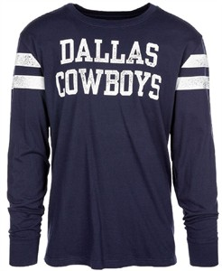 Dallas Cowboys Mens Blue Starks Long Sleeve T Shirt on Sale