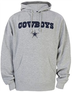 Dallas Cowboys Mens Grey Crowell Pullover Screened Hoodie Sweatshirt